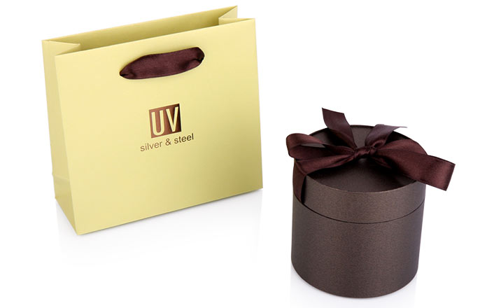 Luxury packaging - Paper Tube with Ribbon for Jewelry and Watches 02