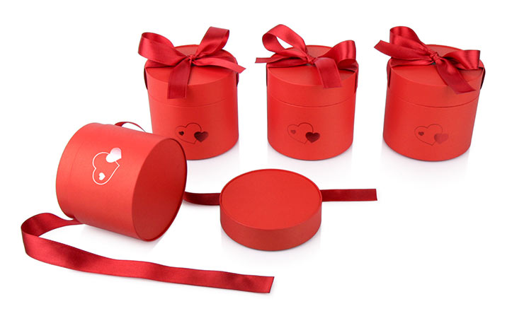 Luxury packaging - Paper Tube with Ribbon for Sweets and Chocolate 06